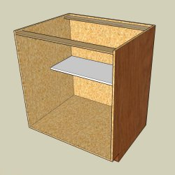 Example of frameless cabinet construction