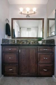 Mirror over bathroom counter