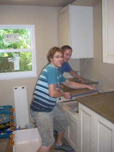 Installing the custom countertop