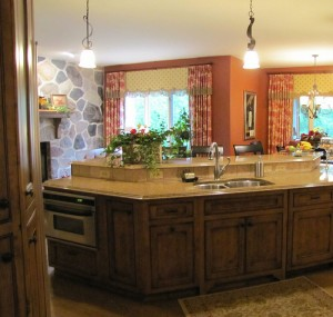 Kitchen Island w/ Pendant lighting