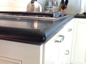Honed Black Granite Kitchen Countertop