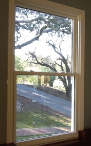 Double-hung Pella window