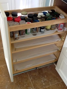 In-Cabinet Pull Out Spice Rack