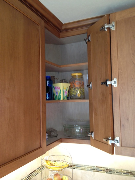 CAGE Design BuildCorner Kitchen Cabinet Solution: Easy Access Hinges